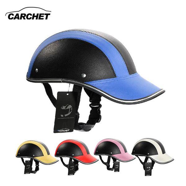 best selling Motorcycle Helmet Adjustable Motocross Half Open Face Helmets Soft Baseball Cap Style Bike Helmet 7 Color 55-60CM HOT
