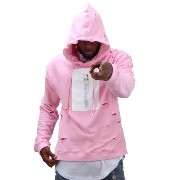 Hole Hoodies Sweatshirts Mens Hip Hop Hoodies Sweat Tracksuit Bore Cotton Best Quality Hooded Long Sleeve Distressed Hoodies