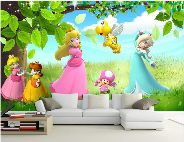3d wallpaper custom photo mural Cartoon beautiful princess children's room background 3d wall murals wallpaper for walls 3 d living room