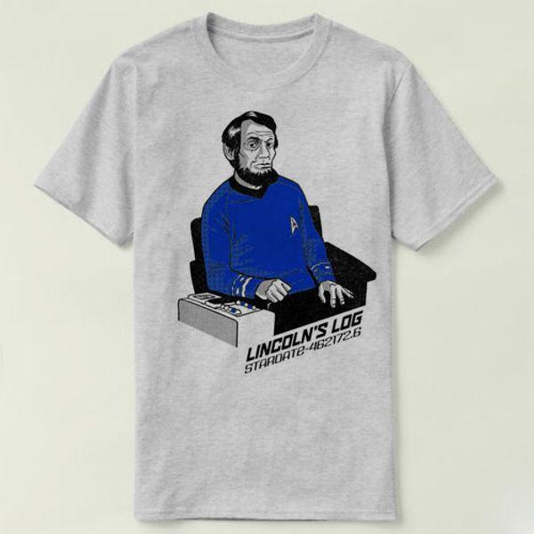 Lincoln log t shirt Star trek spock short sleeve gown Leisure tees Unisex clothing Quality cotton fabric Tshirt