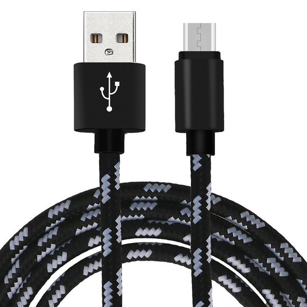 Micro USB Cable 2A Metal Nylon Braided Wire USB Charger Sync Data Cable Mobile Phone USB for Samsung Galaxy S7 S8 S9