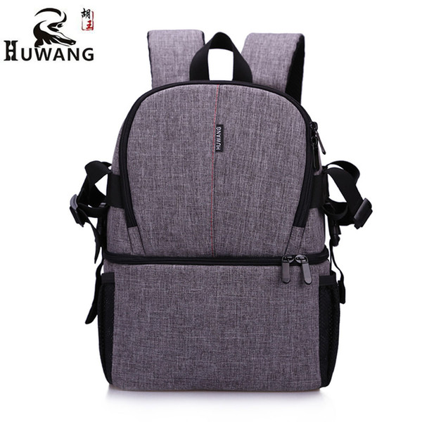 Fashion High Density Oxford Cloth DSLR Camera Backpack Outdoor Photography Camera Bags For Canon Nikon Waterproof Multi-Pocket Comfortable.