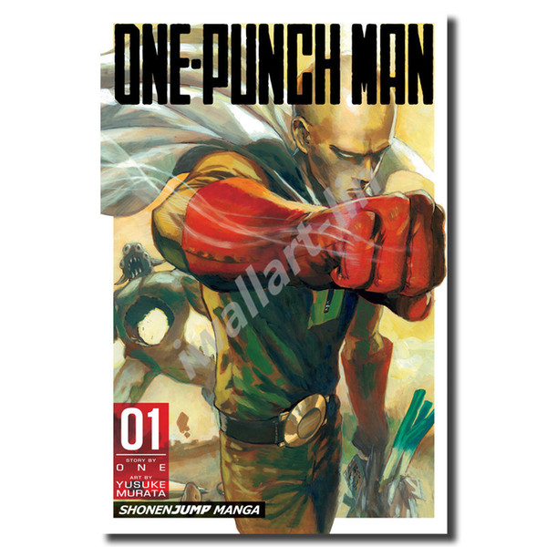 Compre One Punch Man Volume 1 Hd Wallpapers Posters Lienzo Cuadro óleo Enmarcado Wall Art Print Pictures For Living Room Decoración Para El Hogar A