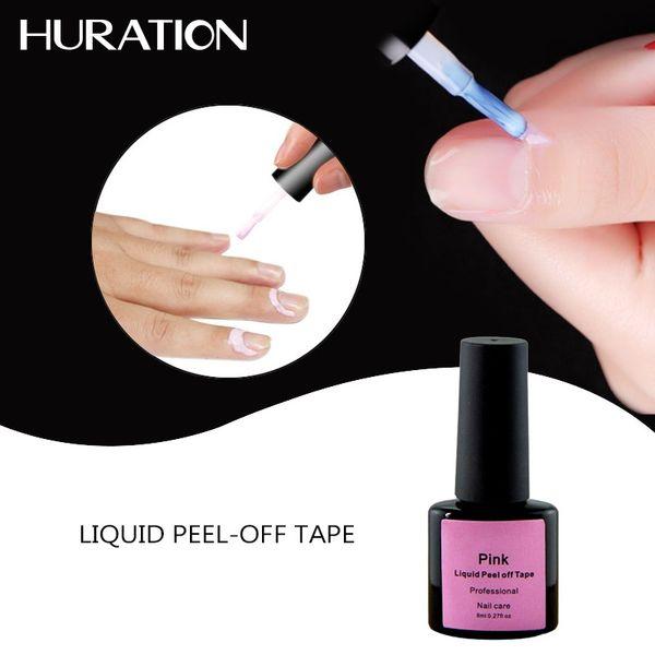 Huration White Pink Nagellack Hautschutz Lack Gel Nailart Latex Liquid Clean Decklack Gel Polish Tools