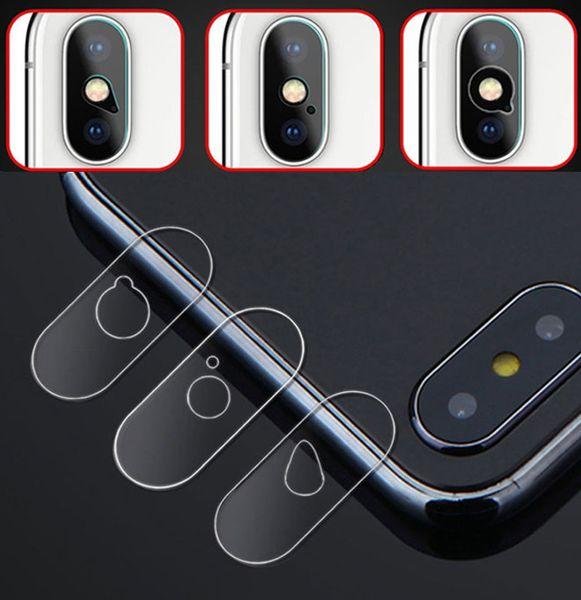 Limpar filme de vidro temperado de volta lente da câmera slim protetor de tela guarda para iphone xs max xr x 8 7 6 s 6 plus 4 projetos