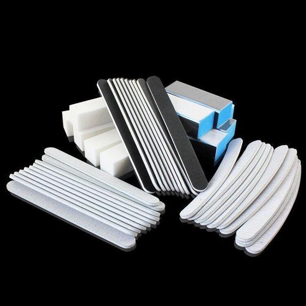 40PCS Nail Art Tools Sanding Files Buffer Block Manicure Pedicure Tools Sand Paper Foam UV Gel Nail File For Manicure