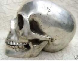 Chinois ancien collectionneur ibet argent cadre de crâne statue usine en gros points de vente Arts