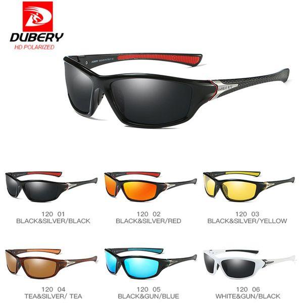 DUBERY Polarisiert Sonnenbrille Herren Square Sport Angeln Brille Anti UV400 1