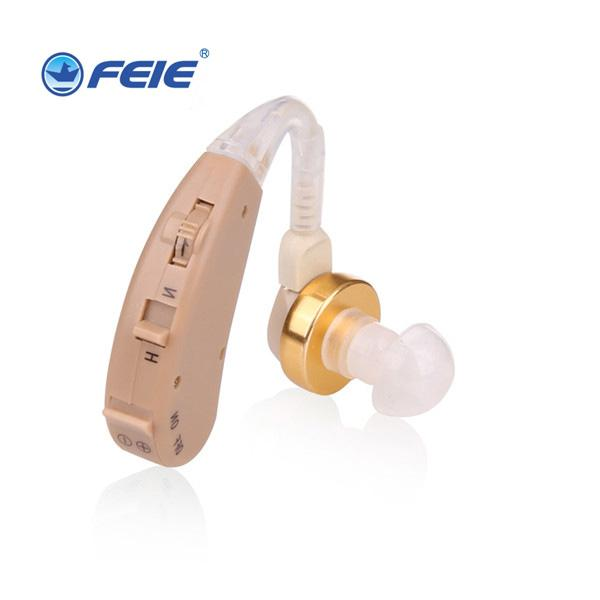 Cheap Sound Amplifier Mini Devices S-168 Bte Beige Headphone Deaf Hearing Aid for Elderly Apparecchio Acustico free shipping