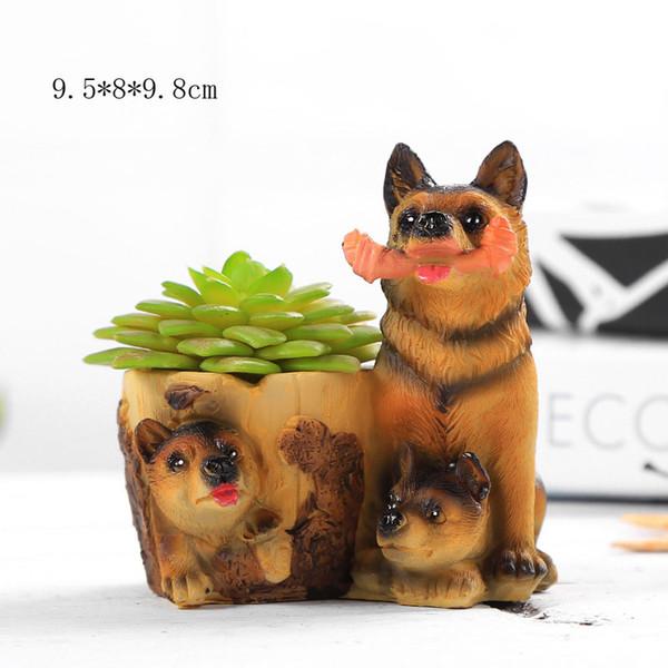 Lovely Resin Garden Window Planter Cute Creative cartoon dogs flower Pot resin succulent Craft flower vase
