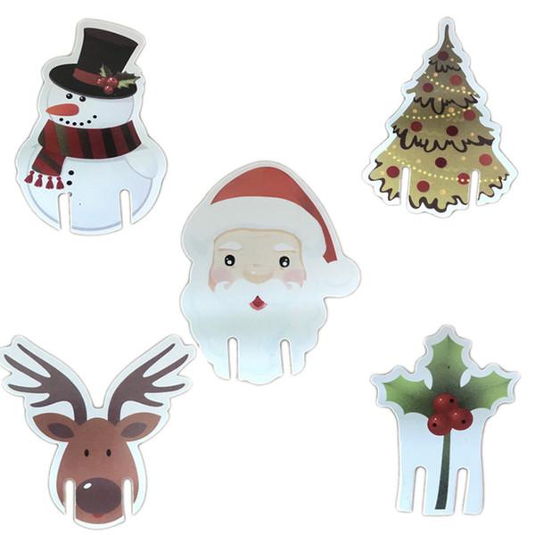 Vendite dirette della fabbrica di Christmas Elk Cup Card Carta dei vini rossi Carta dei cervi Decorazione carta Babbo Natale