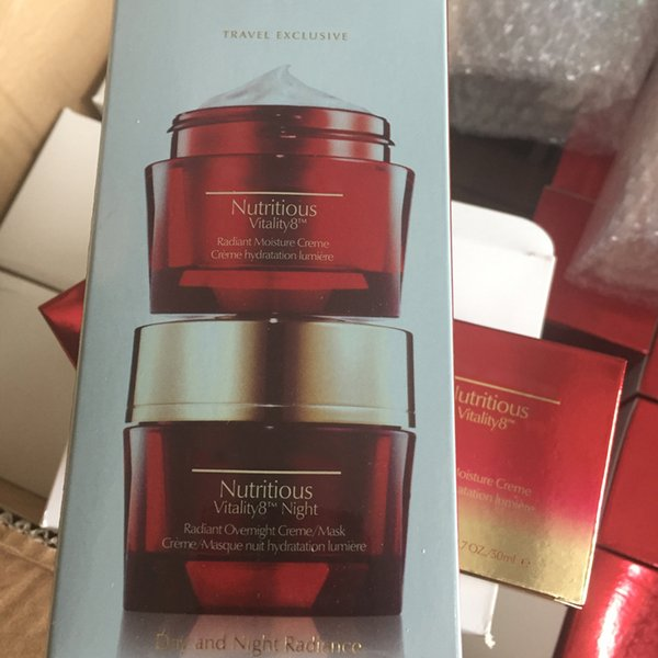 2pcs / set Red Pomegranate V 8 Rosy Prism cream Moisturizing day and night cream free shipping