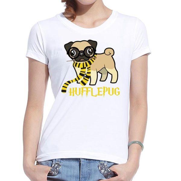 Women's Tee Ulzzang Harajuku T Shirt Printing Pug French Bulldog Kawaii Dogs White Funny T-shirt Women Cotton Cute Tops 2017 Tumblr Clothing