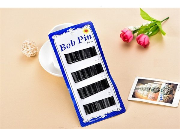 60Pcs/set Pro Hair Clips 4cm Black Pins Curly Wavy Grips Hairstyle Hairpin Hair Hairdressing Styling DIY Tools