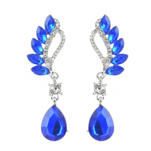 2018 neue, europäische und amerikanische Temperament Flügel symmetrische Mode Ohrringe, Diamant Ohrringe, Trend Damen, einfache Mode