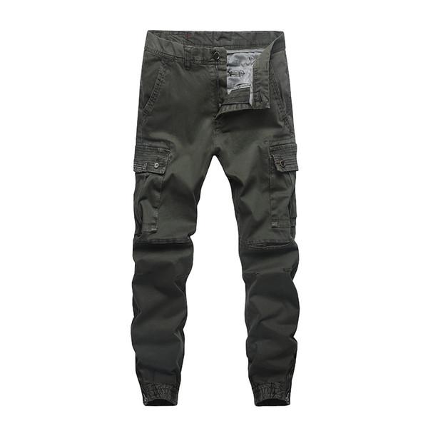 Male Baggy Joggers Mens Long Pants Fashion Slim Fit Amy Green Jogging Pants Men Sweatpants Cargo Pants For Casual Wear