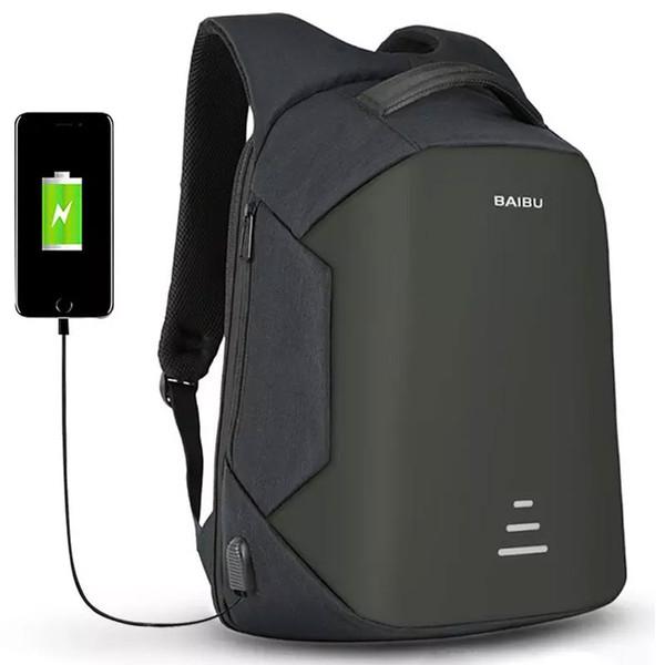 Beste Qualität Anti-Diebstahl-Reise-Rucksack mit USB-Lade Laptop Rucksäcke wasserdichte Schule Rucksäcke Outdoor-Taschen