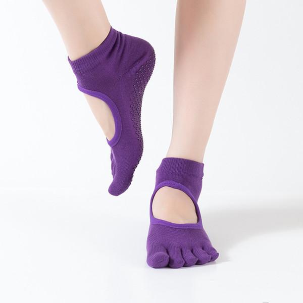 a823456606097 gold toe sport socks Coupons - Hot Sale Women Yoga Workout Anti Slip Toe  Socks Backless