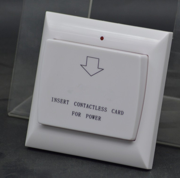 top popular Wholesale Max 40A 13.56Mhz RFID Keycard Switch Energy Controlled Unit Energy Saver Voltage AC 180~250v, 2 Colors Hotel Wall Switch 2021