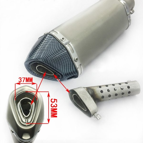 Universal Stainless Steel DB Killer Modified Motorcycle Tail Exhaust Pipe Sound Silp on Reduce noise For 38-51mm Silencer System
