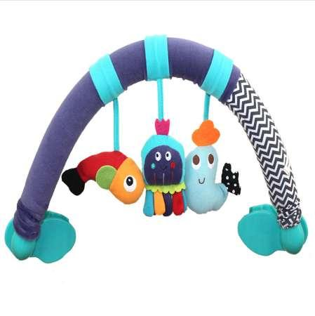 Baby cribs Rattle babyplay Baby Hand Bell Multifunctional Plush Toy Stroller Mobile Gifts infant travel arch