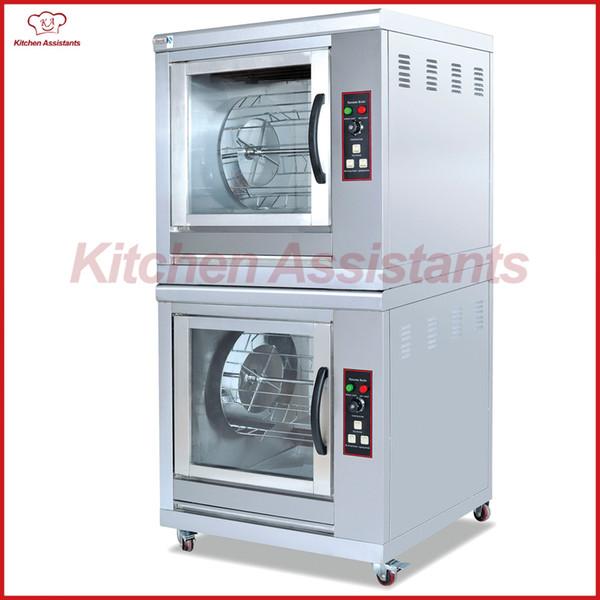 Máquina eléctrica del asador de los asadores del pollo de las capas dobles EB202