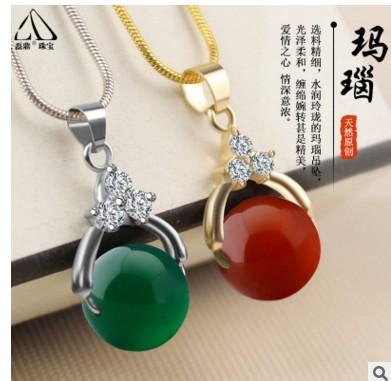 Manufacturers direct selling gold chain silver chain agate clavicle chain fashion creative money Ladies Gift necklaces