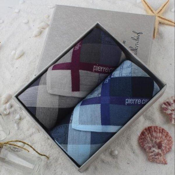 Luxury Mens Handkerchief Holiday Gifts Pocket Square Handkerchiefs Men Cotton 10 Style 43*43cm men wedding party hanky