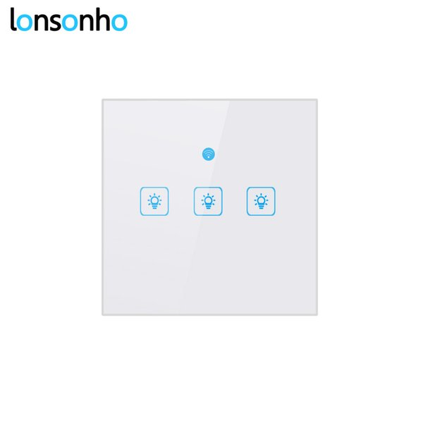 Lonsonho EU Wifi Switch Smart Switch Remote Control Wireless Light Touch Wall Switches Works With Google Home Mini Alexa