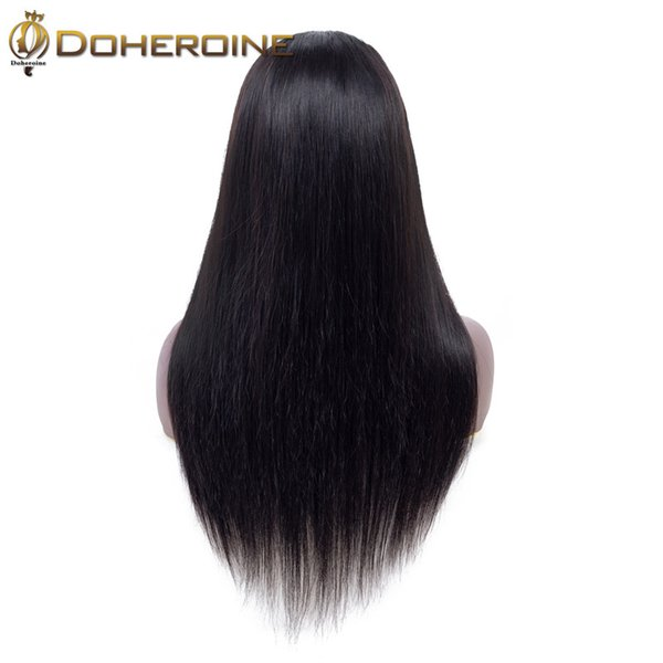 Brazilian Straight Hair Lace Front Human Hair Wigs 13*4 Middle Part Lace Front Wig Green Color Non Remy Lace Front Wig