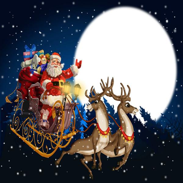 Impressão giclée contemporânea art parede abstrato presente de natal papai noel céu estrelado pintura a óleo imagem impresso em tela de casa sala de estar decoração