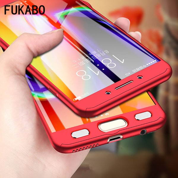 360 Full Protect Cases For Samsung Galaxy S8 Plus Case a5 2017 a7 2016 Hard PC For galaxy S7 edge Cover s6 Note 8 with glass