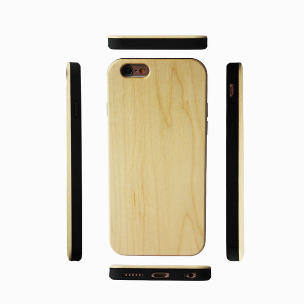 For Iphone X 6 6S 7 8 Plus Genuine Maple Wood TPU Case Anti-scratch Bamboo Wooden Cell phone Cover Cases For Samsung Galaxy Note 9 s8 s9