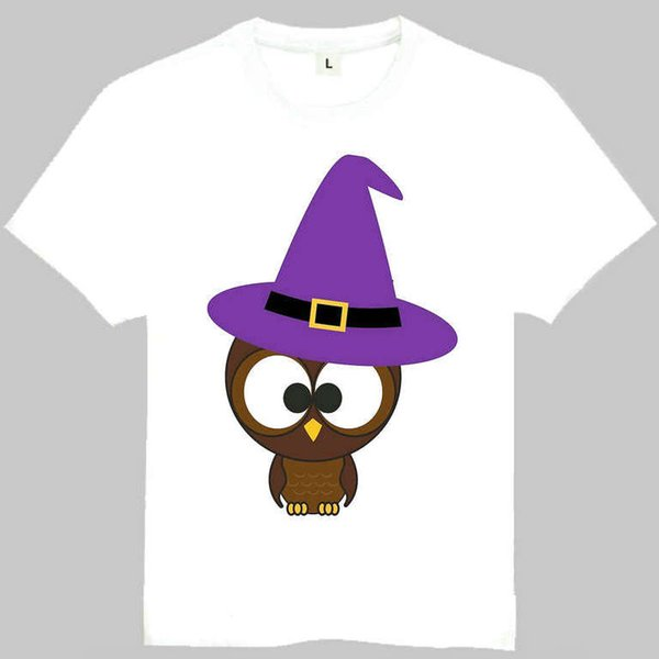 Owl t shirt Cute bird short sleeve gown Cartoon animal tees Leisure gray white clothing Quality cotton Tshirt