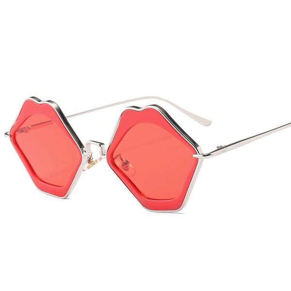 Fashion UV400 Women Sunglasses Brand Designer 2018 New Female Red Lip Sun Glasses Ladies Retro Shades