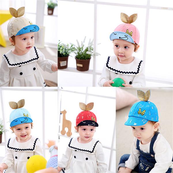 Cool! Cartoon rabbit ears Snapback Caps Child Baseball Hat Bone For Boys Girls Hip Hop Caps Kids Summer Hats Fashion Sun Hat
