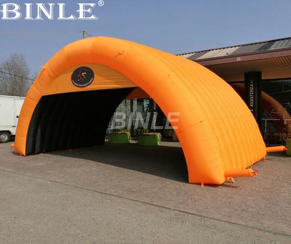 Nouveau pas cher 8x4m personnalisé taille couleur orange géant publicité air dôme gonflable arch tente avec logo pour des événements