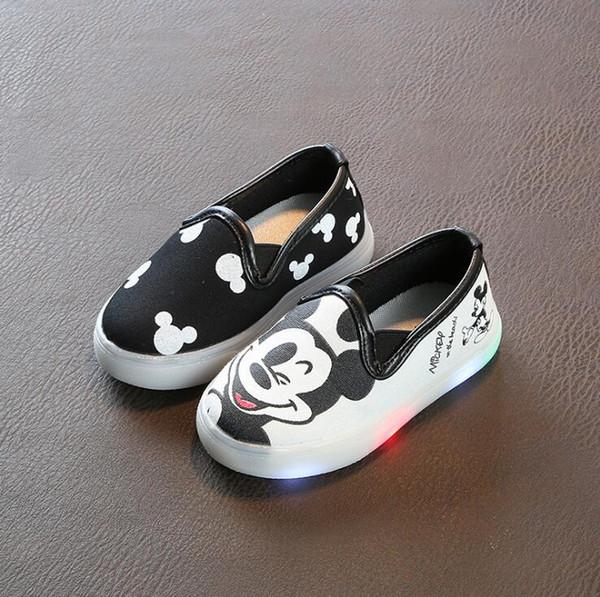 JawayKids Küçük çocuklar LED Ayakkabı Bebek Tuval Sneakers Çocuk Toddler Ayakkabı için light up Ayakkabı, Erkek Kız Yumuşak Slip-On