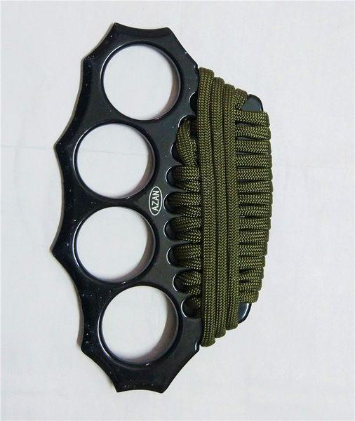 Латунные костяшки из тонкой стали Латунные ножки для кулаков Самооборона Личная безопасность Ручная пряжка Упражнение Самозащита