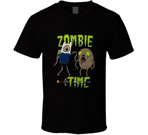 Adventure Time Zombie Finn And Jake Cartoon T Shirt Newest 2018 Men T-Shirt Fashion top tee Shirts Homme Novelty T shirt Men