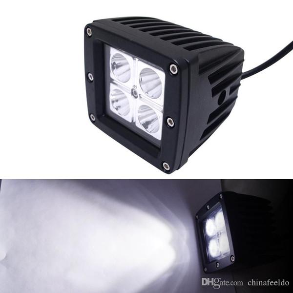 3.2 Inç 12 W LED İş Işık Araba Motosiklet Göstergeleri Nokta / Sel Işın Sürüş Offroad Tekne SUV LED Spot # 1055