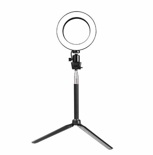 Mini Photo Studio LED Câmera Anel de Luz Dimmable Telefone Video Phtography Lâmpada Com Tripé Selfie Vara Luz De Preenchimento para Maquiagem Ao Vivo Iluminação