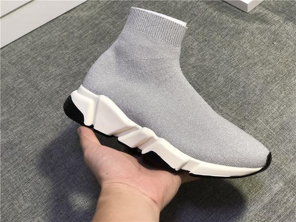 Alta calidad Barato Original 2018 Mujeres Hombres Calcetines planos Negro Blanco Rojo Velocidad Entrenador zapatillas de deporte casuales Botas Casual zapato para hombre