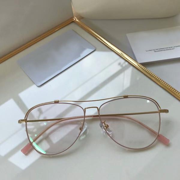 Luxury Women Eyeglasses With Plain Lens Light Weight Metal Glasses Frame Brand Design Plain Glasses vintage Oval Spectacles Clear Lens Opti