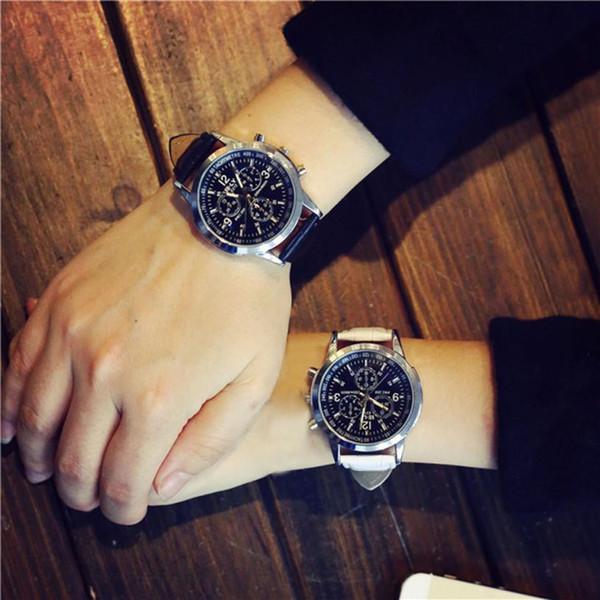 Minimalist Fashion Lovers Watch Women Men Luxury Leather Strap Business Watches Mens Couples Quartz Wrist Watch Relogio Reloj #N