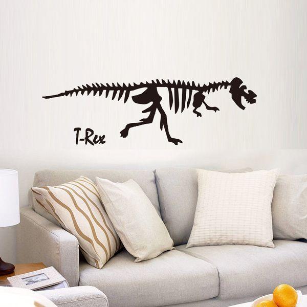 The Jurassic Dinosaur Skeleton Arts Stickers Murali PVC Adesivi da parete adesivi autoadesivi Can Removable Sitting Room Decoration