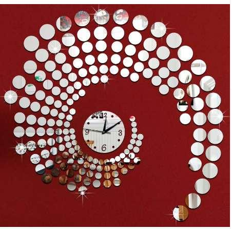 3d Daire Ayna Duvar Çıkartmaları Büyük Dekoratif Duvar Saatleri Ev Oturma Odası Saat Duvar Kağıdı Resimleri Plastik Ayna Saat Çıkartması
