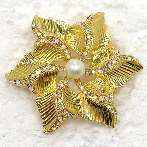 12pcs/lot Wholesale Crystal Rhinestone Bridal brooches Bridesmaid Wedding Party prom Flowers Fashion Costume Pin Brooch Jewelry gift C2069