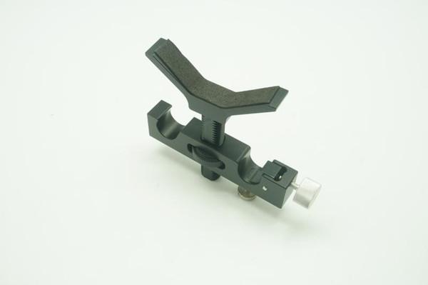 CNC 15mm Lange Objektiv Unterstützung Halterung Halterung Adapter Höhe Einstellbare für DSLR Kamera Schulter Rig 5D2 Fotografie Zubehör