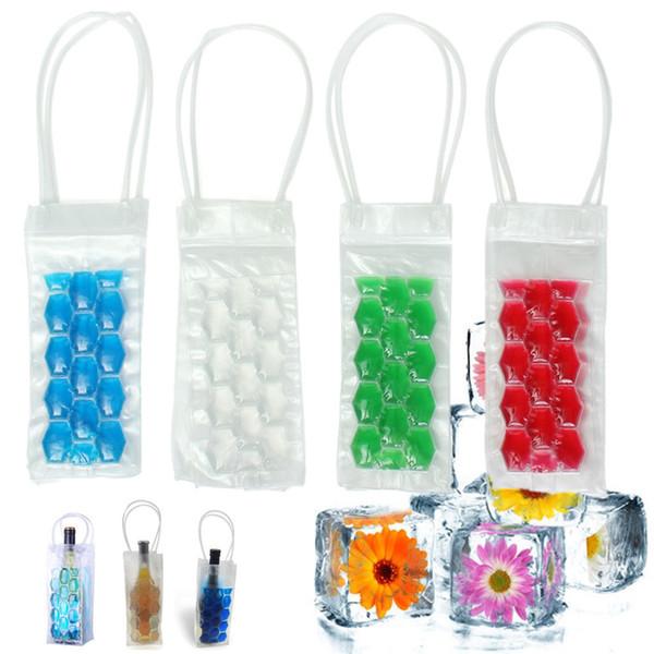 top popular Rapid Ice Wine Bottle Cooler PVC Beer Cooler Bag Outdoors Ice Gel Bag Picnic CoolSacks Wine Cooler Chillers Frozen Bag 2021